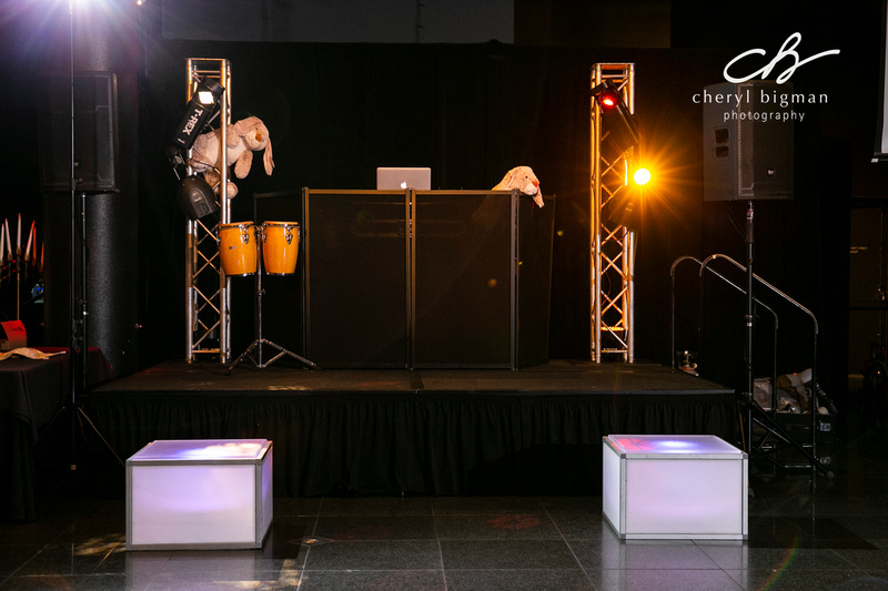 DJ Setup for Magic Themed Bar Mitzvah