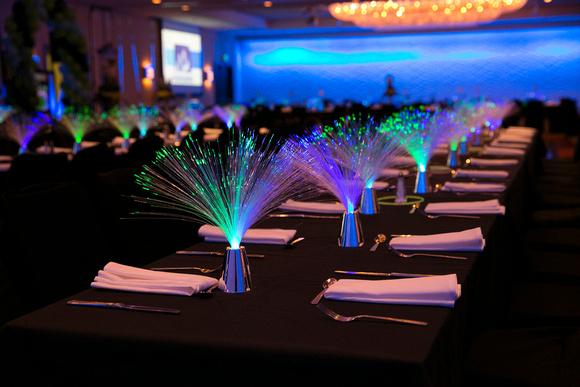 Neon Optics Bar Mitzvah Party Decor